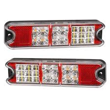 led trailer tail lights pair of 10 30v led combo stop tail indicator reverse trailer l
