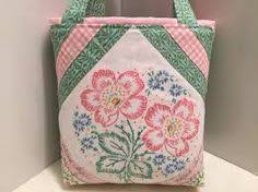 shabby chic wrapping paper clearance sale scrappy bag cottage chic tote bag shabby gift