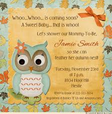 owl baby shower invitation leafy autumn whoo colors