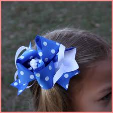 baby bow boutique this boutique big blue and white hair bow will be for both