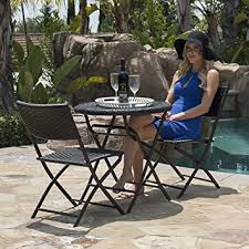 Resin Bistro Chairs Belleze Folding Table Chair Bistro Set Rattan Wicker