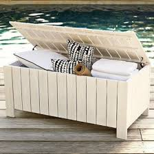 chic cushion storage bench outdoor outdoor great plastic cushion