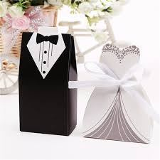 bridal gift 100pcs bridal gift cases groom tuxedo dress gown ribbon wedding