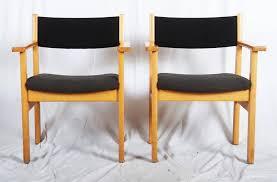 Vintage Settees For Sale Vintage Armchairs By Hans J Wegner For Getama Set Of 2 For Sale