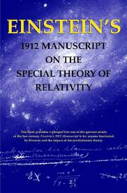 amazon com einstein u0027s 1912 manuscript on the special theory of