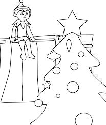 christmas elf shelf coloring pages christmas