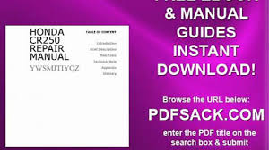 honda cr250 repair manual video dailymotion