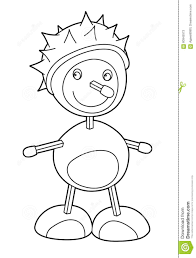 cartoon character coloring page chestnut creature stock