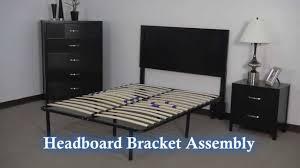 headboard footboard brackets for platform frame with slats youtube