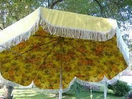 Floral Patio Umbrella Vintage Cal Patio Yellow Fringe W Tilt Floral Patio Table Umbrella