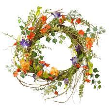 decorative wreaths artificial plants u0026 flowers the home depot