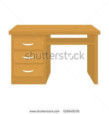 desk computer desk lamp furniture interior stock vector 700424200