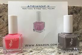 adrianne k 5 free nail polish review