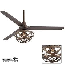 industrial ceiling fan light kit 7 rustic industrial ceiling fans with cage lights you ll love inside