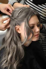 grey hairstyles for young women 45 best gorgeous in grey images on pinterest colourful hair