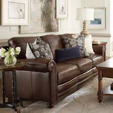 Leather Cushions For Sofas Green Accents On Brown Leather Sofa With The Grey Walls