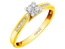 pierscionki apart pierścionek z żółtego złota z brylantami wzór 109 388 apart