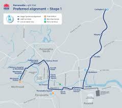 The L Train Map Home Parramatta Light Rail