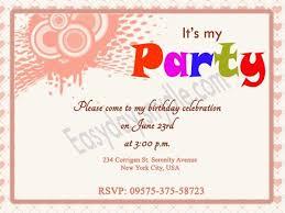sample of birthday invitation 24 best birthday invitation card