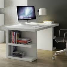 bureau avec rangement intégré bureau blanc moderne pour adulte ado enfant avec rangement etagère