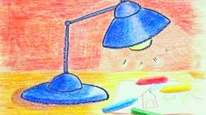 learn how to draw a table lamp danny u0026 daddy youtube