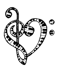 music clef heart tattoo clipart library clip art library