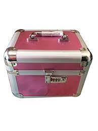 Bridal Makeup Box Decotrend Dark Pink Luster Makeup Vanity Case Bridal Makeup