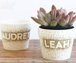 Unique Plant Pots by Sharpie Dot Flower Pot Craft Diycandy Com