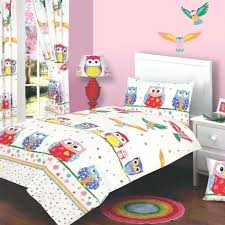 owl bedroom curtains girls owl curtains owl love single duvet cover curtains ideal for