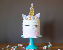unicorn cake topper unicorn cake topper unicorn horn ears and eyelash set