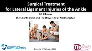 Tibiofibular Ligament Injury Surgical Treatment For Lateral Ligament Injuries Of The Ankle