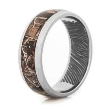 fingerprint wedding bands fingerprint camo ring unique titanium rings more titanium buzz
