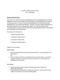 Irony Worksheet Grade 11 Short Stories Unit Irony Narration