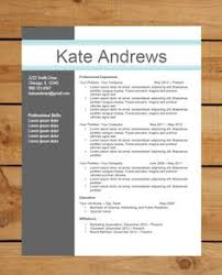 Modern Word Resume Templates Resume Template Cv Template The Elizabeth Grant Resume Design