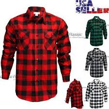 Flannel Shirts Mens Brawny Buffalo Plaid Flannel Shirt Sleeves Button Front