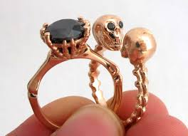 skull engagement rings these subtle skull engagement rings will be the of me