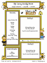 busy bees template classroom newsletter meaghan howard teacher