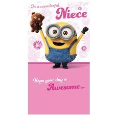 niece birthday cards minion niece birthday card danilo