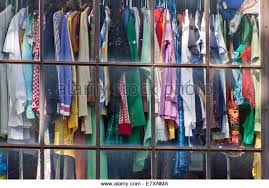 used clothing stores used clothing store window stock photos used clothing store