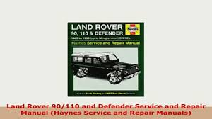 download land rover 90110 and defender service and repair manual