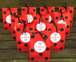 personalized ladybug birthday party favor bags ladybug treat