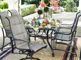 Hampton Bay Woodbury 7 Piece Patio Dining Set - attractive illustration lovable outdoor metal chairs and table