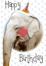 happy birthday elephant free printable birthday card greetings