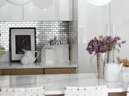 kitchen backsplash stainless steel tile rend hgtvcom amys office