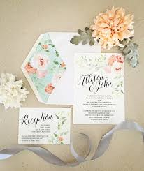 wedding invitations floral floral wedding invitations 622 press letterpress