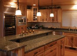 medium oak cabinets with granite countertops 3176