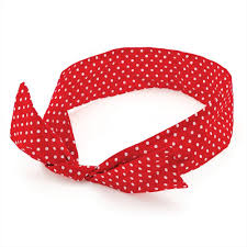 wire headband white polka dot spotty wire headscarf headband
