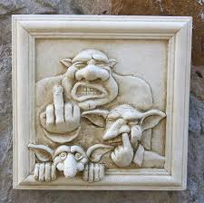 goblin family wall plaque garden wall plaques online mythical