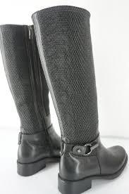 womens equestrian boots size 12 aquatalia urope elastic loop woven boot black