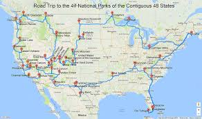 california map national parks a road trip to all of the national parks in the lower 48 states
